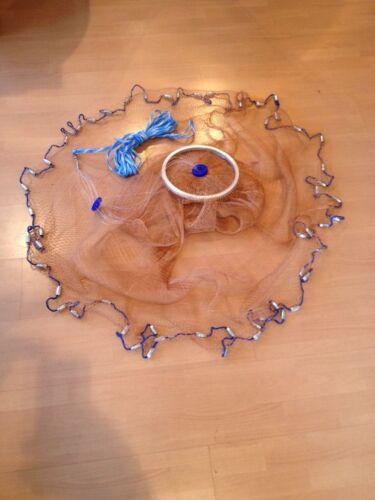 Nr.40,Neue Profi Wurfnetz 3,05m Durchmesser! Kastingnetz Cast Netz Fischnetz