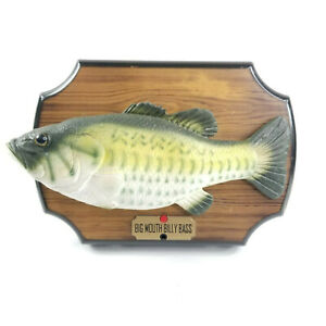 Vintage-Big-Mouth-Billy-Bass-1999-Gemmy-Motion-Activated-Singing-Fish-Plaque