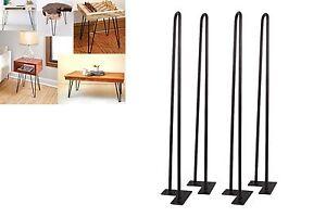 28-039-039-Set-of-4-Hairpin-Coffee-Table-Legs-1-2-034-Solid-Steel-DIY-Vintage-Table-Legs
