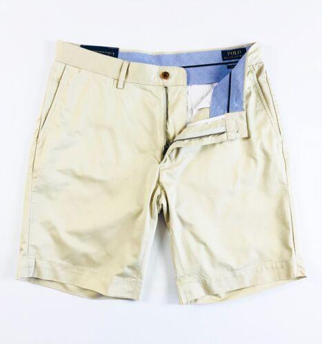 """POLO Ralph Lauren pantaloni corti chino Uomo Di Base SABBIA CLASSIC FIT 9/"""" leggero"""