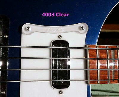 Clear Thumb Rest for Rickenbacker 4003 Model Basses 2015 Onwards With Logo