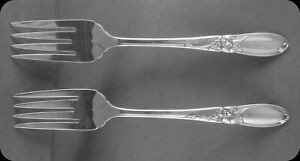 Community-White-Orchid-6-3-4-034-Salad-Forks-TWO-4-sets-of-two-avail