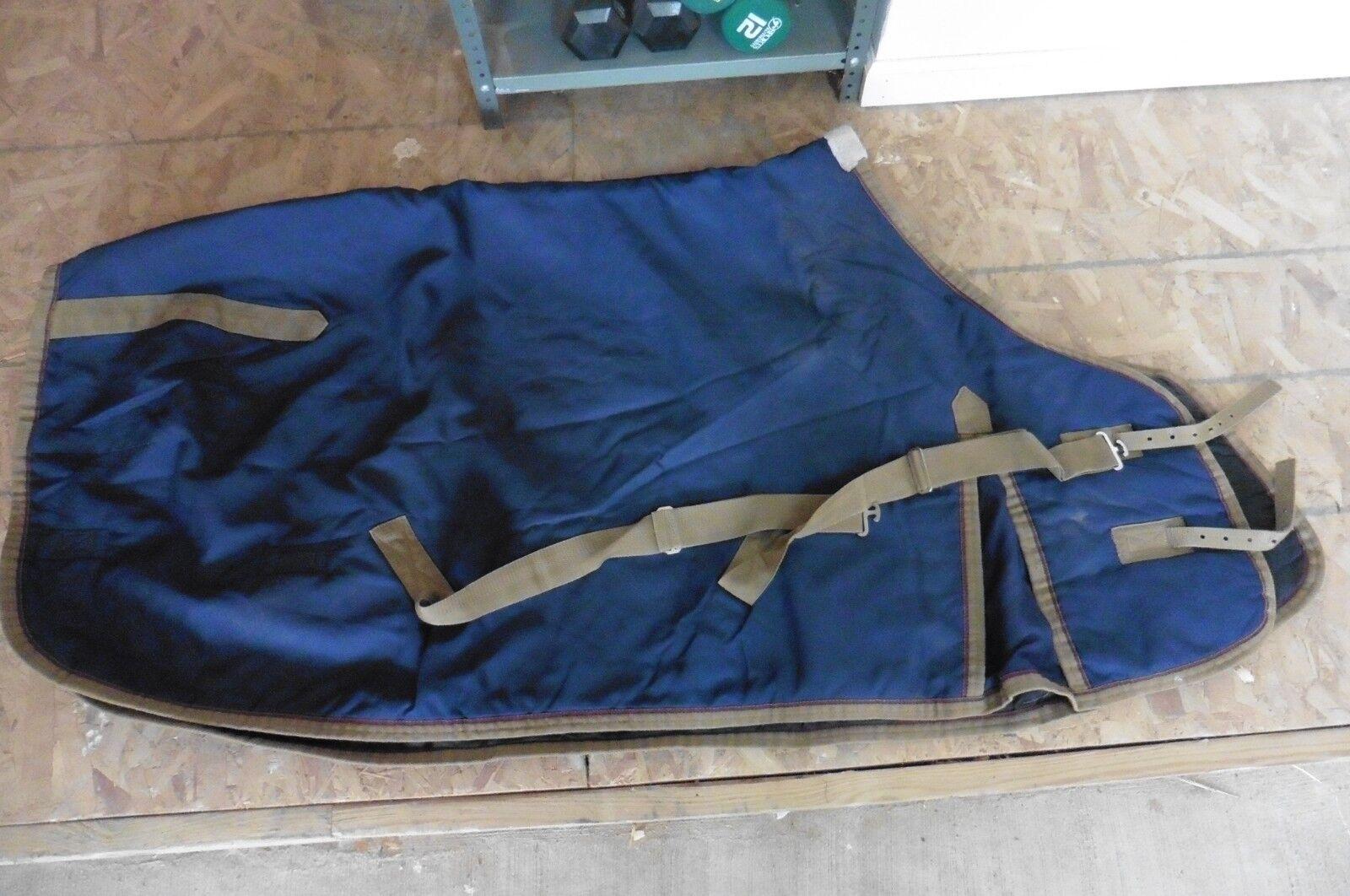 Beval Blanket Turnout Coat Horse Dress sheet cooler equestrian scrim Navy sz 64