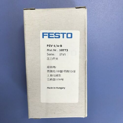 1PC NEW FESTO PEV-1//4-B 10773 Pressure Switch #V3218 CH