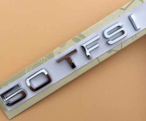 50 TFSI Badges Rear Emblem Decal Audi A3 A4 5 A6 A7 A8 S4 S5 S6 S8 Q5 Q7 RS TT