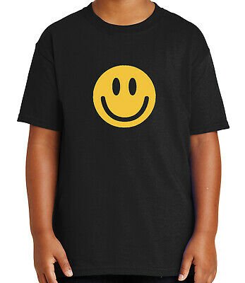 1019C Emoji Smiley Kid/'s T-shirt Smiling Cute Emoticon Tee for Youth