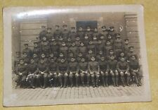 1917 WWI OLD CABINET PHOTO 666 BATTALION ARMY TRAINING PICTURE MILITARY POLICE?