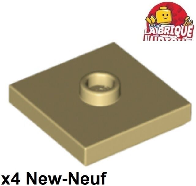 Pack of 25 LEGO Plate 2 X 2 With 1 Stud  Dark Tan 87580