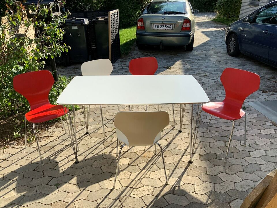 Spisebord m/stole, Træ metal stel, Phoenix