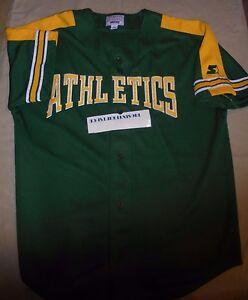 newest 8d29f fe8e4 Details about Oakland Athletics A's Jersey MLB Starter Men Large Green  Baseall VINTAGE