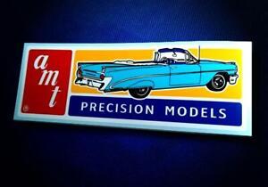 Vintage Style • AMT • 1959 Pontiac • Model Kit Manufacturer • Sticker • Decal