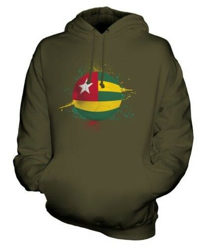 TOGO FOOTBALL UNISEX HOODIE TOP GIFT WORLD CUP SPORT