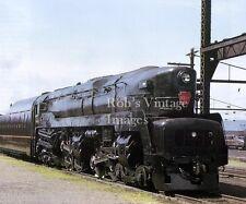 Pennsylvania Railroad T-1 Sharknose 5544 Train Steam photo 1940s color PRR