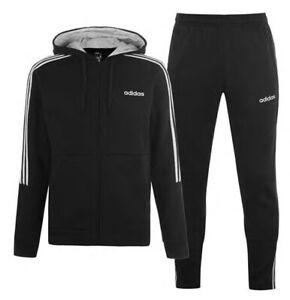 Adidas 3 Stripe Herren Trainingsanzug Tracksuit Jogginganzug Navy Blau Sport Neu | eBay