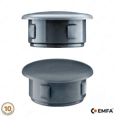 Abdeckstopfen 13x8 mm Anthrazit Blindstopfen Kunststoff Verschlusskappe 50 Stck