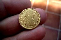 A66* OLD US GOLD EXCELLENT 1 Escudo 1778 Popayan Mint Spanish Colonial luster