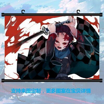 Demon Slayer Kimetsu no Yaiba Wall Scroll Poster Home Decor Otaku 40*55cm#X02