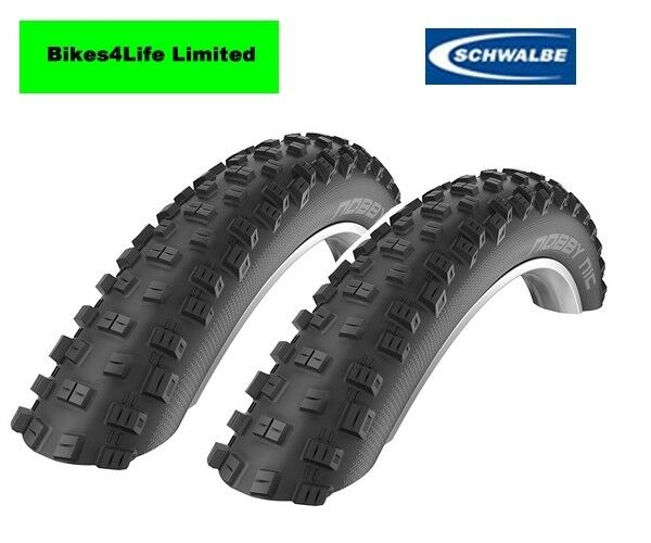 Schwalbe Nobby Nic 26  x 2.25   Knobbly Off Road Wire Bead Tyre Tubes Option