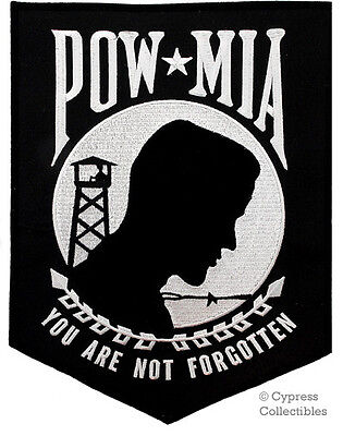 POW-MIA iron-on embroidered PATCH VIETNAM WAR VET LARGE Prisoner US MILITARY big