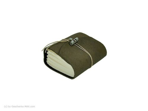 Tagebuch Notizbuch - Büffelleder A7 - 400 Seiten - Chocolate - vw-2305-427