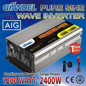 Large-Shell-Power-Inverters-1200W-2400W-12V-240V-4-5M-Remote-USA-Transistors