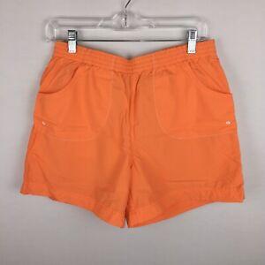 Columbia-Womens-S-Orange-Nylon-Outdoor-Hiking-Casual-Shorts-0109-AL-4496