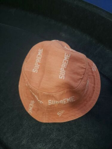 Supreme Denim Logo Crusher hat SS19