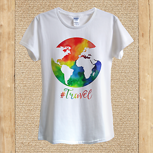 Travel Art T Shirt Design World Hy