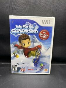 NEW SEALED NINTENDO WII WE SKI & SNOWBOARD GAME BALANCE BOARD