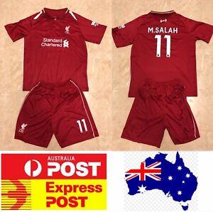 Liverpool-soccer-club-11-M-SALAH-jersey-set-kids-size-or-adult-size