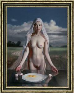 Original-Oil-Painting-female-art-chinese-nude-girl-on-canvas-30-034-x40-034