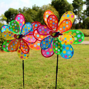 Kids Toy Colorful Sequins Windmill Wind Spinner Home Garden Yard Decoration/_TI