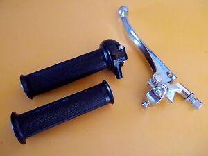 """Throttle & Grips & Brake Lever Minibike Deckson Deltek Made in Japan 7/8"""" Bars"""
