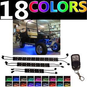 Image is loading LED-Custom-Golf-Cart-Lighting-Under-Glow-Neon-  sc 1 st  eBay & LED Custom Golf Cart Lighting Under Glow Neon Lights Kit for Caddy ...