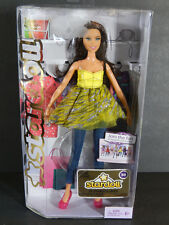 NIB BARBIE DOLL 2011 STARDOLL BROWN HAIR YELLOW ZEBRA TOP JEAN PANTS  W2294