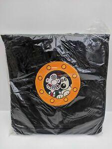 Vintage-Wallace-amp-Gromit-Embroidered-Porthole-Black-Messenger-Laptop-Bag-New