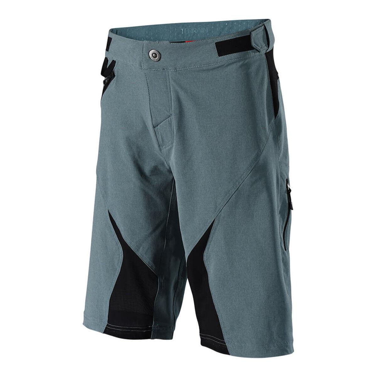 Troy Lee Designs Pantalones cortos de bicicleta de montaña terreno corto; Azul gris 32