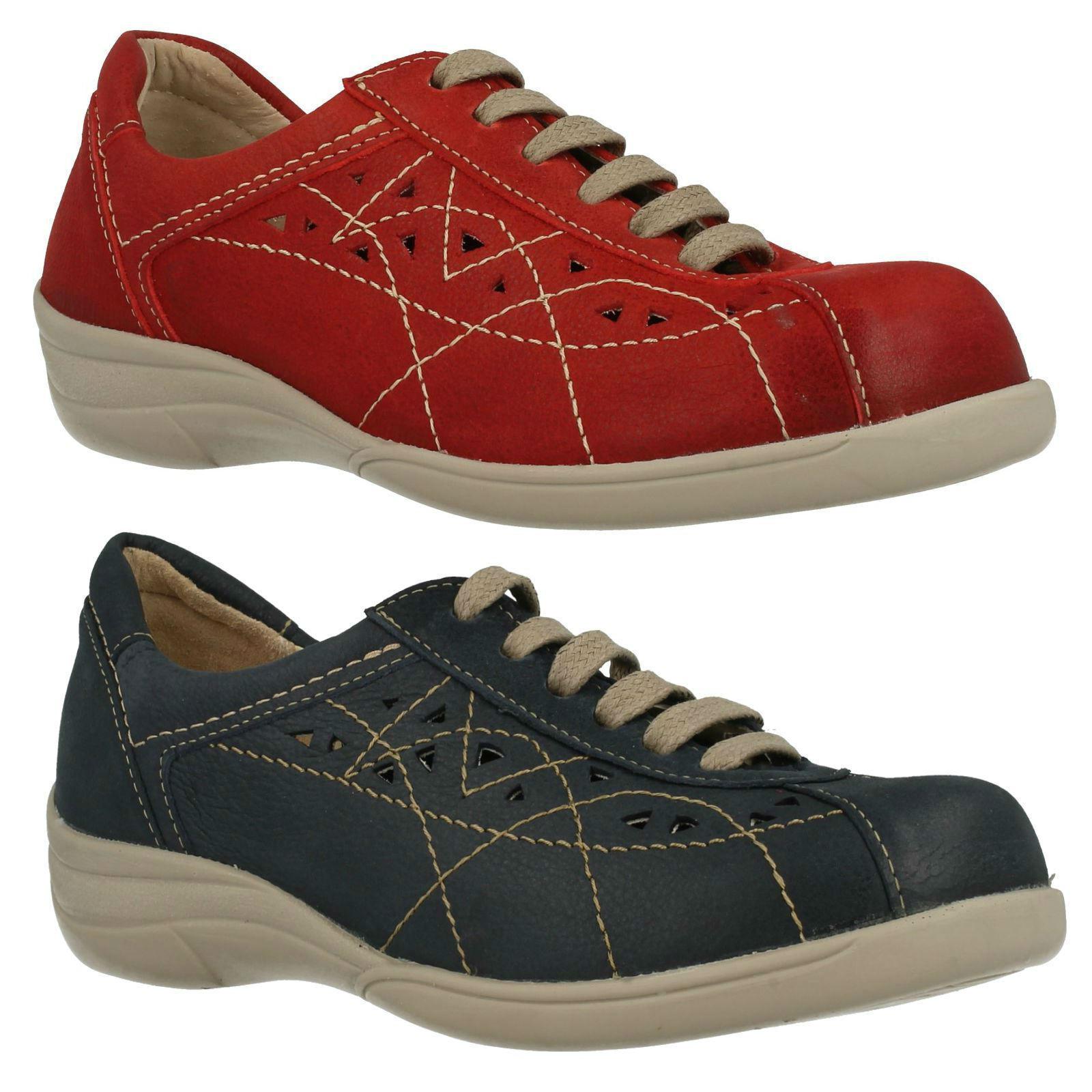 Db easy b hornsea femmes en cuir à lacets plat décontracté quotidien baskets chaussures