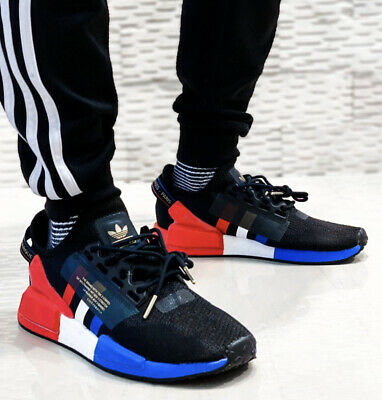 New adidas Originals NMD R1 V2 Mens sneaker casual shoes Tricolor black all siz | eBay