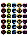 30 HALLOWEEN EDIBLE RICE PAPER CUPCAKE CUP CAKE TOPPER DECORATION IMAGE