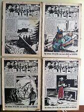 lotto 4 intrepido anno XXVII N° 11 - 13 - 17 - 20 del 1961 senza copertina