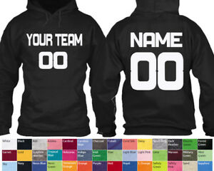 4601a323 Image is loading Customized-Team-Number-HOODIE-UNISEX-Personalize-Name- Number-