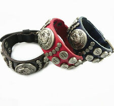"DIESEL ""ONLY THE BRAVE""  (BLACK)  Genuine Leather Buckle Bracelet 10.5"" $9.95"
