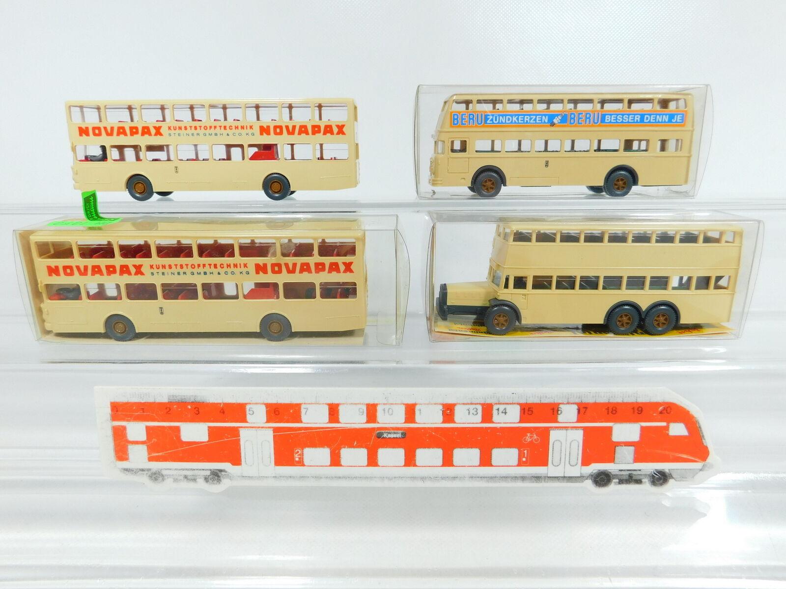BV956-0,5 x Wiking H0   1 87 Bus  730 Man +873 Berlin Bus + 720 1,Mint + 3x
