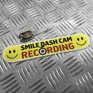 1X-SMILE-DASH-CAM-RECORDING-FUNNY-CAR-STICKER-DECAL-BUMPER