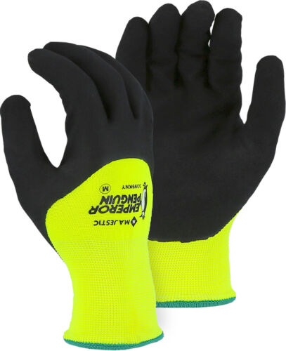 Majestic Glove Emperor Penguin 3399KNY 3//4 Dip Nitrile Gloves Lined