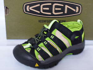 9d2ae70d20a2 Image is loading KEEN-NEWPORT-H2-YOUTH-SANDALS-WATERPROOF-BLK-LIME-