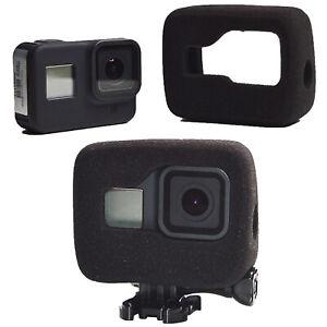 Para GoPro Hero 8 Cámara Negro Parabrisas Espuma de reducción de ruido Carcasa Funda