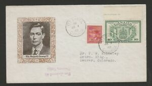 Canada-1942-War-Effort-3c-and-10c-special-delivery-FDC-nice-cachet