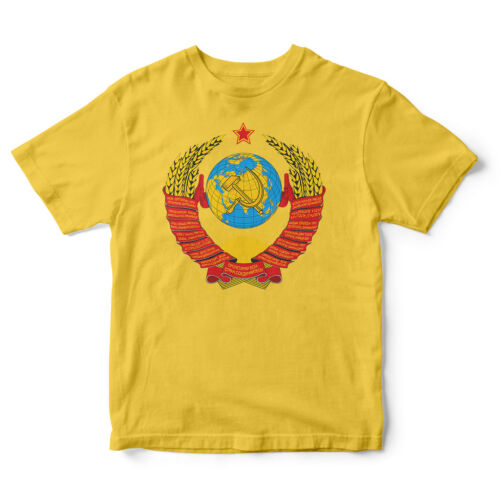 USSR CCCP Coat of Arms High Quality New Russian T-Shirt TShirt Soviet Union